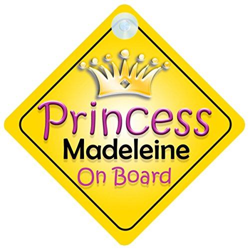 Princess Madeleine Christmas - Princess Madeleine On Board Girl Car Sign Child/Baby Gift/Present 002