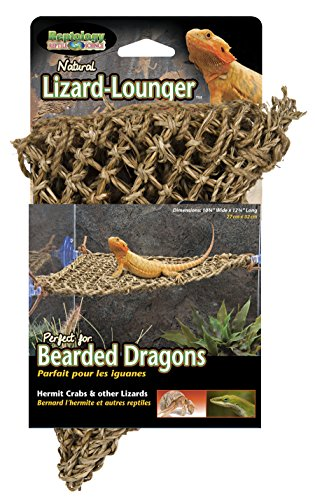 Penn Plax Lizard Lounger, 100% Natural Seagrass Fibers For Anoles, Bearded Dragons, Geckos, Iguanas, and Hermit Crabs Triangular 10 x 12 Inches Lizard Supplies