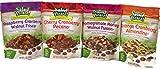 Variety Pack - Salad Pizazz Snacking Nuts - Cherry Cranberry Pecano (3.75 oz), Orange Cranberry Almondine (4 oz), Raspberry Cranberry Walnut Frisco (4 oz), Pomegranate Honey Walnut Fusion (4 oz)