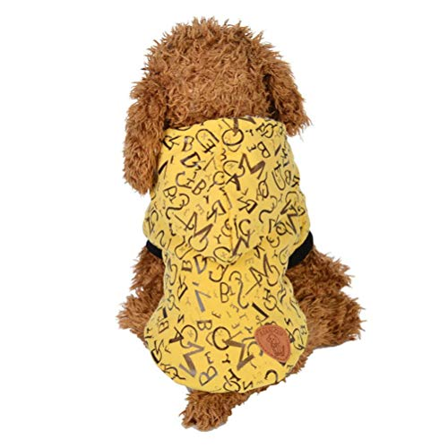 Led Lighted Dog Cap - Cenglings Pet Clothes Puppy Round Neck Shirt Two-Legged Clothes with Cap Letter Coat