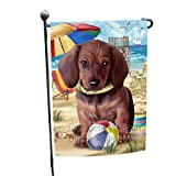 Doggie of the Day Pet Friendly Beach Dachshund Dog Garden Flag GFLG48546