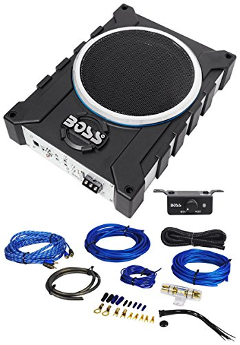 "Boss Audio BASS1600 10"" 1600w Car/Truck Slim Under-Seat Active Subwoofer+Amp Kit"