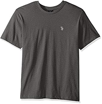 U.S. Polo Assn. Men's Crew Neck Pony T-Shirt (Color Group 2 of 2), Campus Heather Grey, Small