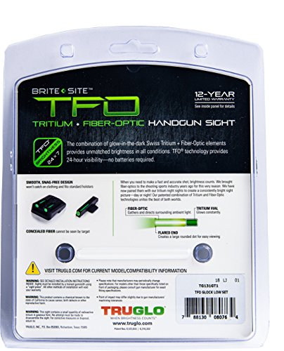 TRUGLO TFO Handgun Sight Set – Glock Low