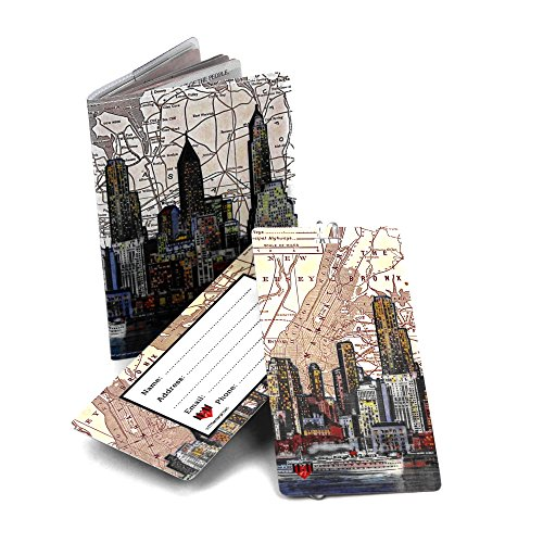 New York City Skyline Travel Set- Passport Cover + 2 Large Luggage Tags