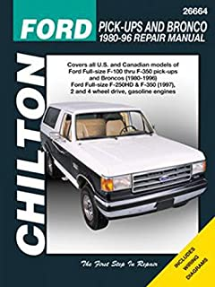 chilton s ford pick ups and bronco 1987 96 repair manual chilton s rh amazon com 2000 Ford Bronco 1996 Ford Bronco