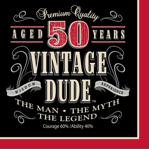 Creative Converting 16 Count Vintage Dude 50th Birthday