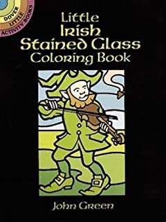 little irish stained glass coloring book dover stained glass coloring book
