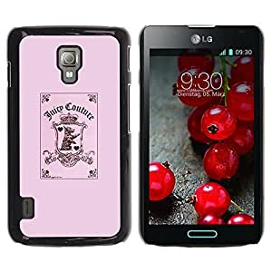 All Phone Most Case / Hard PC Metal piece Shell Slim Cover Protective Case Carcasa Funda Caso de protección para LG Optimus L7 II P710 / L7X P714 pink funny joker card poker puppy pink