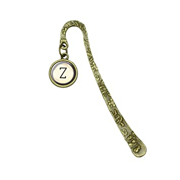Letra Z clave de máquina de escribir libro marcapáginas marcador de posición con encanto: Amazon.es: Oficina y papelería