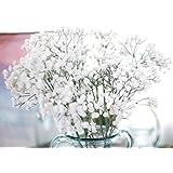 Coromose Artificial Gypsophila Floral Flower Fake Silk Wedding Party Bouquet Home Decor (White)