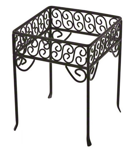 American Metalcraft Scroll (American Metalcraft (PSS77) Single-Shelf Black Square Scroll Contempo Pizza Stand)