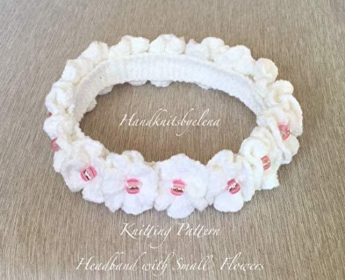 Knitting Pattern Headband with Small Flowers