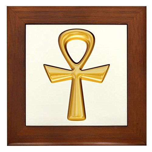 Framed Tile Egyptian Gold Ankh (Framed Tile Tattoo)