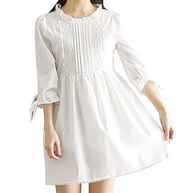 Ansenesna - Patrones de Costura para Playa, Vestido Casual Blanco ...