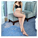 15D Women'S Sexy Oil Shiny Pantyhose Yarns Sexy Satin Stocking Fitness Leggings Lingerie Nude One Size