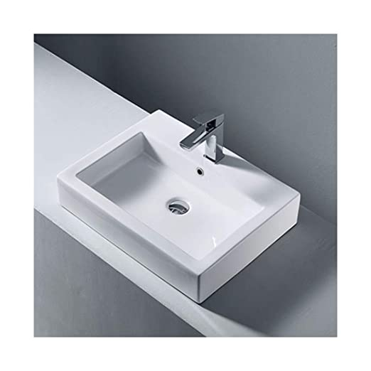 SOHOH Lavabo da appoggio Rettangolare, lavabo da casa di ...