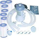 Intex 1000 GPH Easy Set Pool Filter Pump w/GFCI & 6 Type A Filter Cartridges