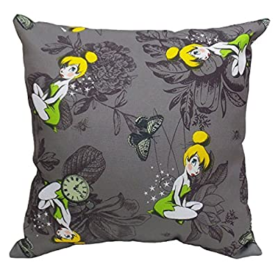 "Design International Group LDG89683 Tinkerbell Outdoor Pillow, 15"" - Weather and UV resistant, perfect for outdoor or indoor use. Cover: 100% polyester, insert: 100% polyester Fiber filling Easy Care: light spot cleaning with cool water Then let air dry - patio, outdoor-throw-pillows, outdoor-decor - 51Jj0FwIBwL. SS400  -"