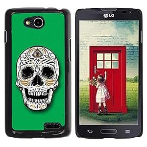 Be Good Phone Accessory // Dura Cáscara cubierta Protectora Caso Carcasa Funda de Protección para LG OPTIMUS L90 / D415 // Sugar Skull Illuminati