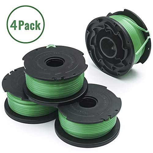 "X Home Trimmer Replacement Spools Compatible with Black Decker GH3000 LST540 SF-080 Weed Eater 20ft 0.080"" GH3000R LST540B Edger Refills Line Auto-Feed Single Line Parts Trimmers Line Cord (4 pcs)"