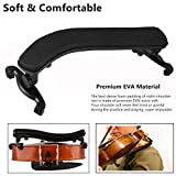 Suewio Violin Shoulder Rest for 4/4-3/4 Size, with