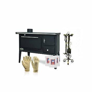 Estufa de leña Zvezda, modelo Narodna SP, salida de calor 7 kW, con horno, esmalte, fogones, patas: Amazon.es: Bricolaje y herramientas