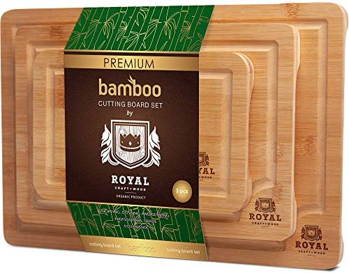 Organic Bamboo Cutting Groove 3 Piece product image