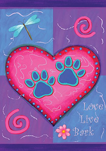 Toland Home Garden Love Live Bark 12.5 x 18 Inch Decorative
