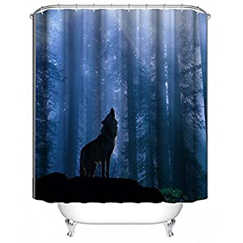 Aldecor Shower Curtain With Hooks Bathroom Anti Bacterial