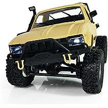 Inverlee 1:16 WPL C14 Scale 2.4G 2CH 4WD Mini Off-Road RC Semi-truck RTR Kids Climb Truck (Yellow)