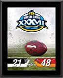 "Tampa Bay Buccaneers vs. Oakland Raiders Super Bowl XXXVII 10.5"" x 13"" Sublimated Plaque - NFL Team Plaques and Collages"