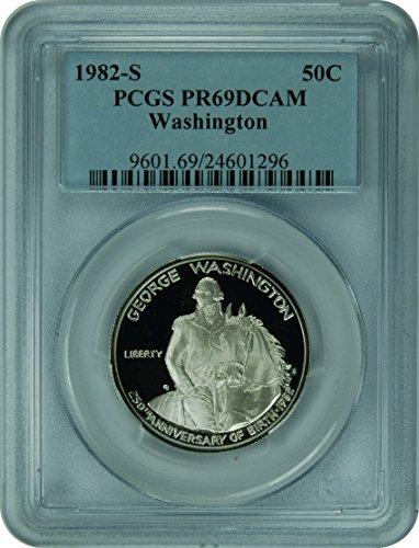 1982 S Washington Washington Commemorative Half Dollar DCAM PCGS - Half Washington 1982 Dollar