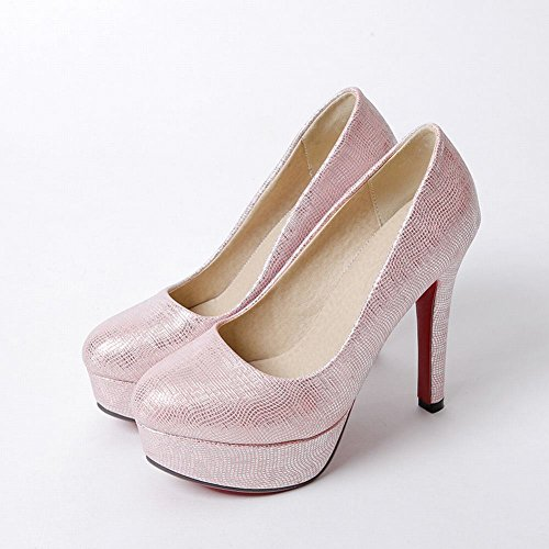 Carolbar Mujeres Wedding Evening Party Platform Nupcial Tacones Altos Bombas Zapatos Rosa