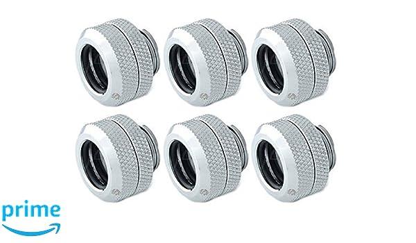 6 Pack of Bitspower G1//4 Deluxe White Enhance Multi-Link For Acrylic Tube OD 12MM