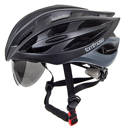 Tommaso Sole Lightweight Cycling Bike Helmet With Retractabl