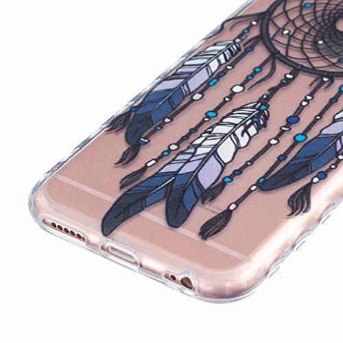 Ougger Apple iPhone 6s 4.7 Custodia Case, Antigraffio Trasparente Cristallo Durevole Slim Morbido TPU Gomma Silicone Flessibile Protettivo Skin Shell Bumper Rear (Modello 12)