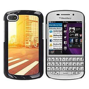 LECELL--Funda protectora / Cubierta / Piel For BlackBerry Q10 -- Resplandor de la calle --