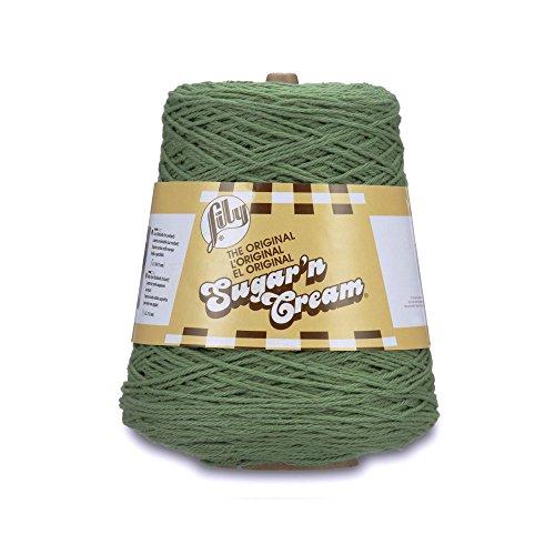 Lily Sugar'n Cream Cotton Cone Yarn, 14 oz, Sage, 1 Cone