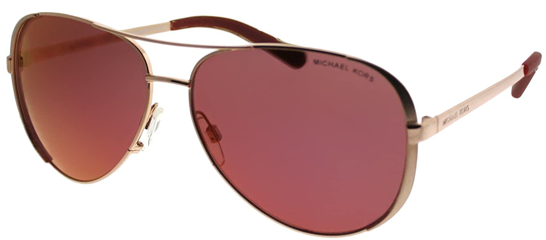 375076a09 Michael Kors CHELSEA MK5004 Sunglasses 1017D0-59 - Rose Gold-tone Frame,  Burgundy MK5004-1017D0-59 at Amazon Men's Clothing store: