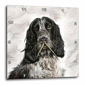 3dRose LLC English Springer Spaniel Wall Clock, 10 by 10-Inch 20
