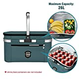 UPBOXN Insulated Cooler Bag Picnic Basket, 26L