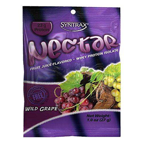 Syntrax Nectar Grab N Go Whey Protein, Wild Grape, 12 Count (27g) Packets