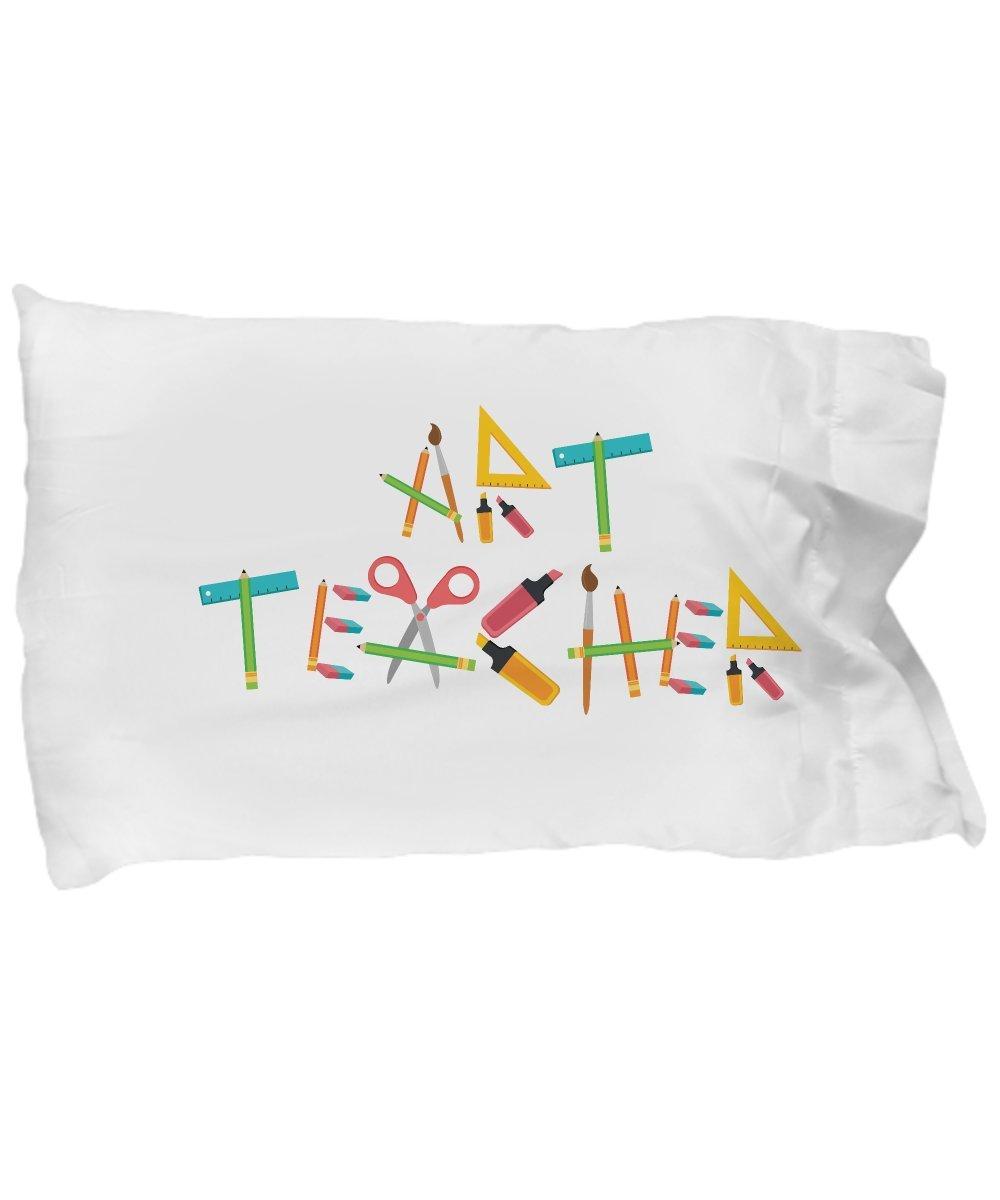 Funny Novelty Gift For Teacher Art Teacher Best Teacher, School, Teacher Appreciation Day, Art Pillow Case