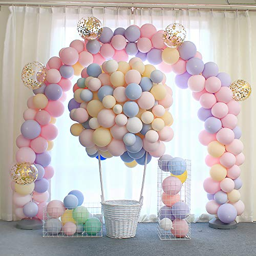 BALONAR 100pcs Macaron Candy Colored Latex Balloon for Birthday Party Decoration Baby Shower Supplies Wedding Ceremony Balloon Arch Balloon Tower