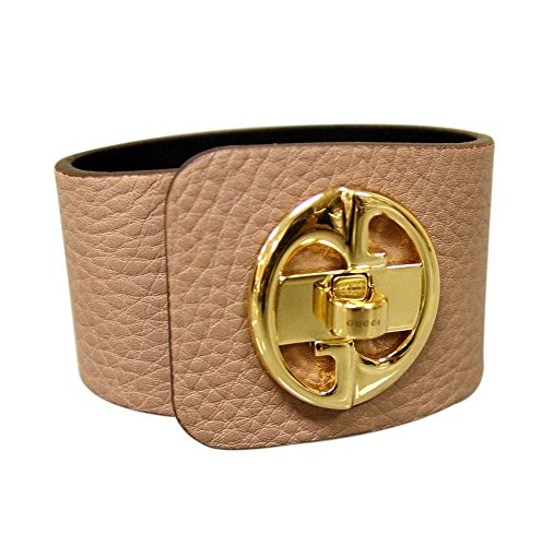 Gucci Bangle Bracelet - Gucci Women's 1973 Beige Leather Bracelet Bangle with Gold 253514 (18 G)