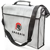 Spardis Spartan Shield XXL Fireproof Money Bag (16''x12''x3.5'') Dual Layer Fire Resistant Lipo Bag w/ Handle, Shoulder Strap, Heat-Proof Aluminum, No-Itch Silicone Coated Fiberglass & Heavy-duty Zipper