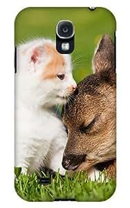 Case Fun Samsung Galaxy S4 (I9500) Case - Vogue Version - 3D Full Wrap - Kitten and Deer