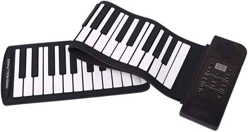 Piano de rollo manual de 61 teclas, teclado portátil plegable ...