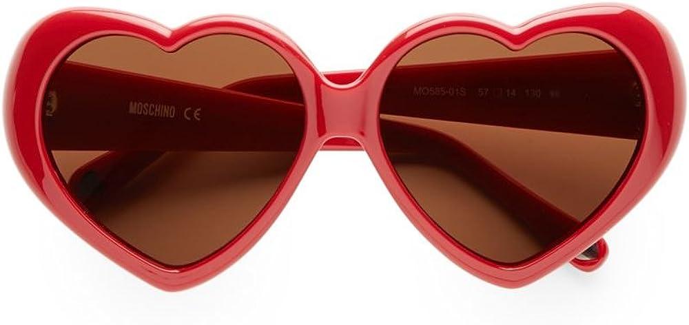 Moschino MO-58501-S Gafas de sol, Red, 57 para Mujer